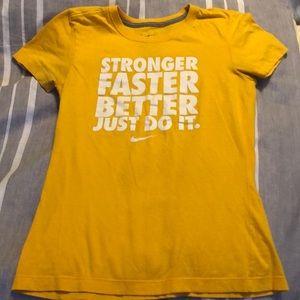 Bright yellow Nike women's T-shirt